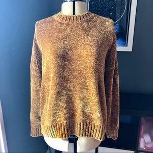 Forever 21 mustard chenille sweater